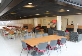 Business School Mezzanine Lounge Tables and Chairs