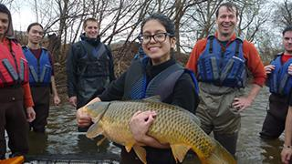 Byrne students with big fish