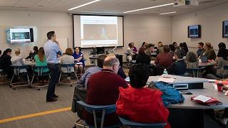 Picture of workshop from the 2019 Rutgers Active Learning Symposium